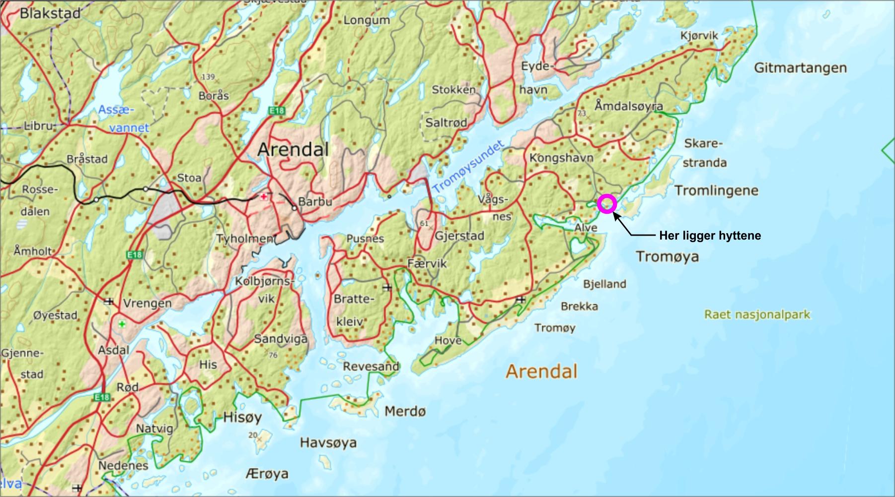 kart sørlandskysten Alve – Lei drømmehytta midt mellom Blindleia og Lyngør kart sørlandskysten